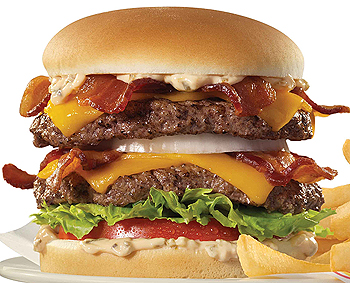 Johnny Rockets Bacon Cheddar Double