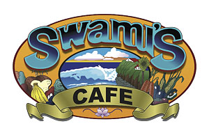 Swami's Cafe Oceanside Logo, Great Breakfast, Lunch, Smoothies and juices